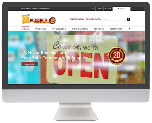 Website Redesign: Monroe Data Products AFTER