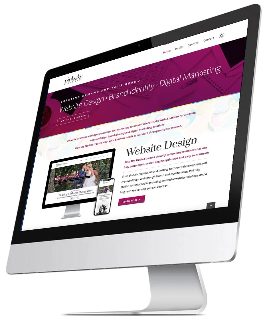 Pink Sky Studios Website Design