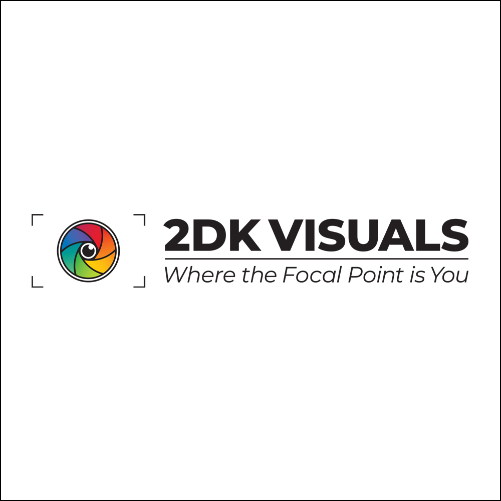 2DK Visuals Logo Design by Pink Sky Studios